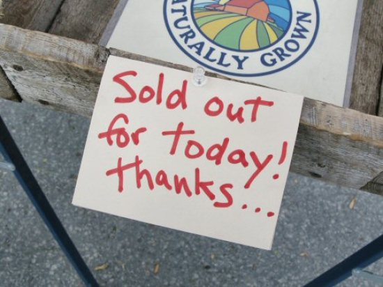 Sold out at the farmers\' market