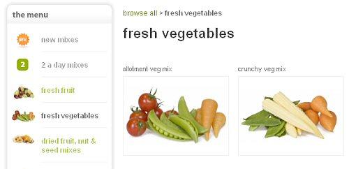 Graze veggie selection