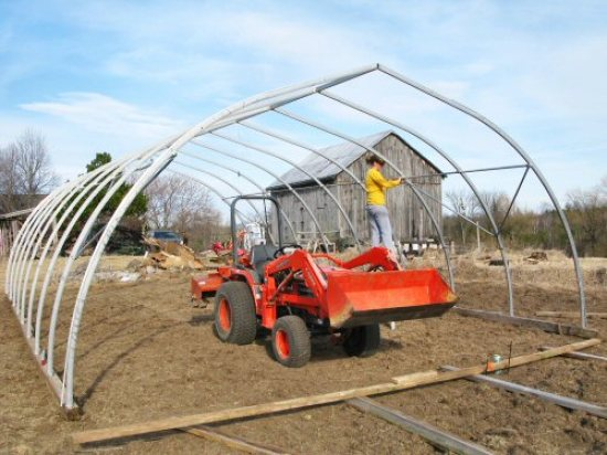 Hoophouse framed!