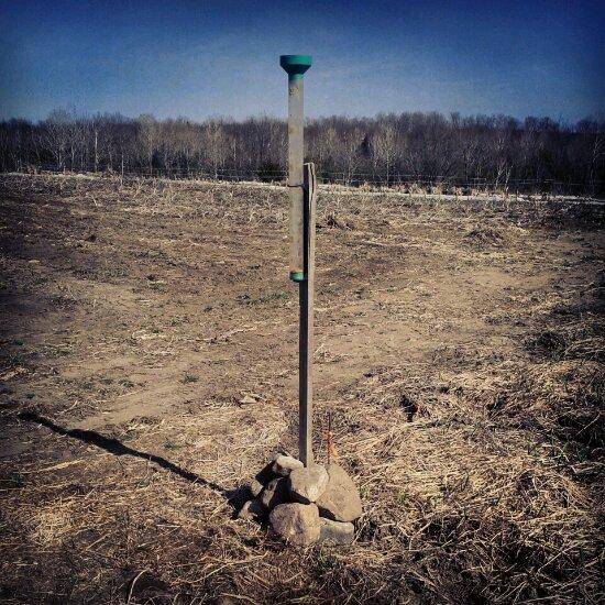Planting the rain gauge