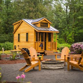 """Atticus"" Tiny House Rental at Mt Hood Tiny House Village"