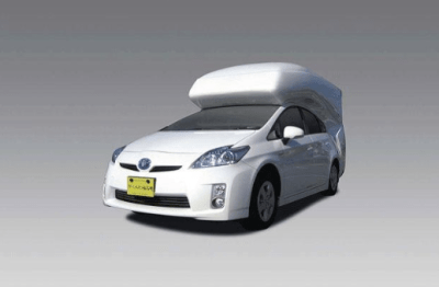Four Can Sleep Comfortably in this Toyota Prius RV