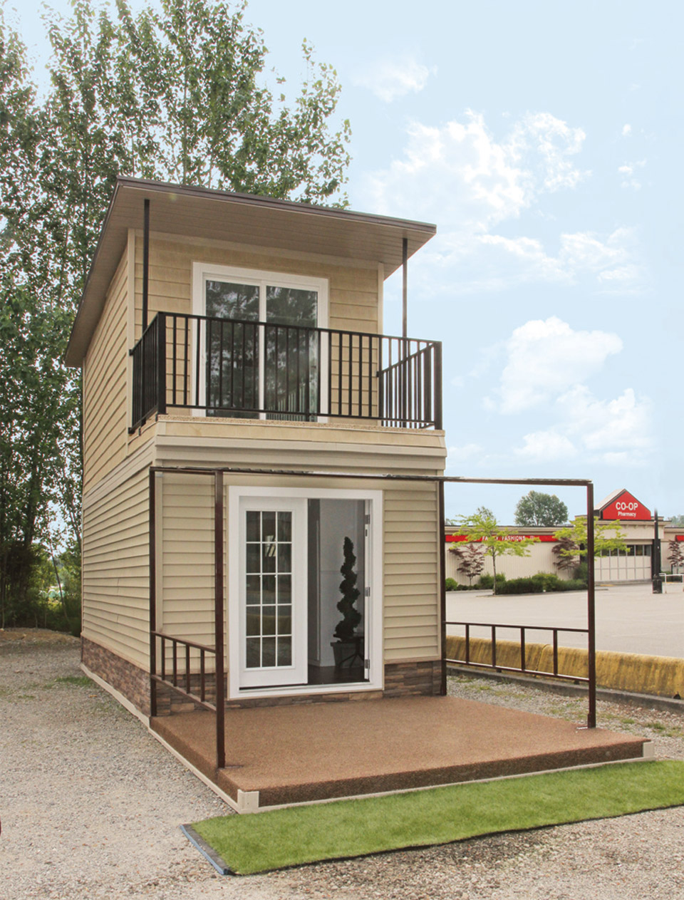 Perky Eagle A Steel Framed Micro Home Two Story House Porch Two Story House Layout curbed Two Story House
