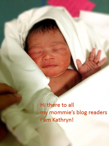 Kathryn Mathew born 3.3.2012