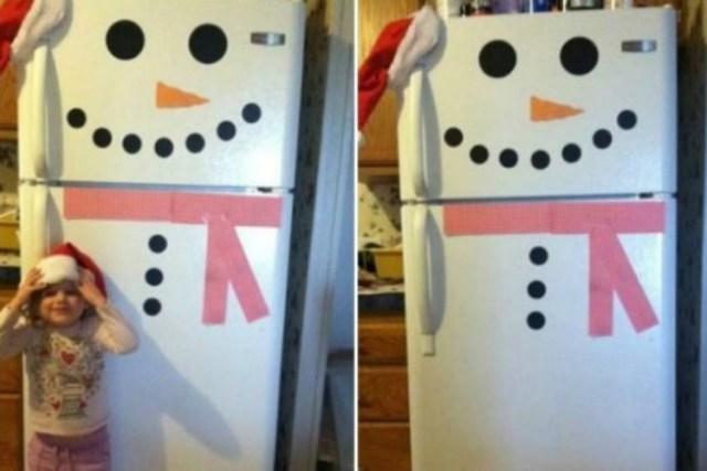 SnowmanFaceonRefrigerator