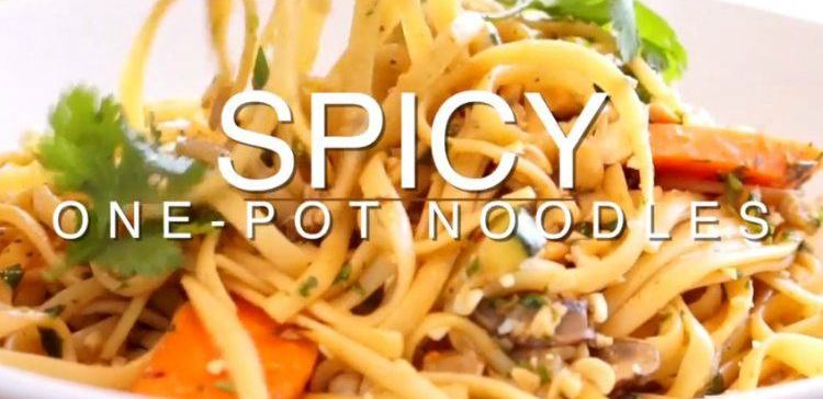one pot spicy noodles