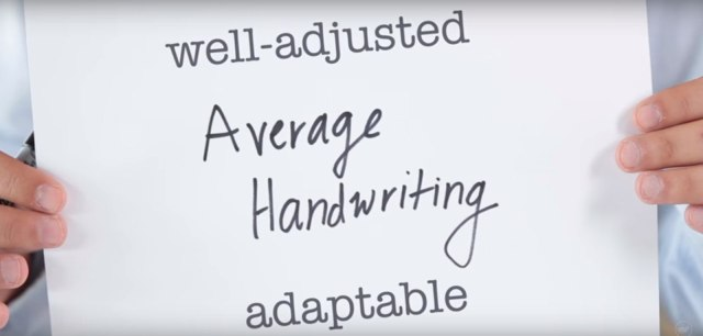 What average handwriting says about you.