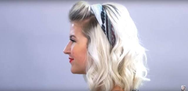 Pompadour bandanna hairstyle