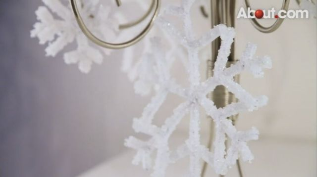 Grow Borax crystals in the shape of a snowflake overnight