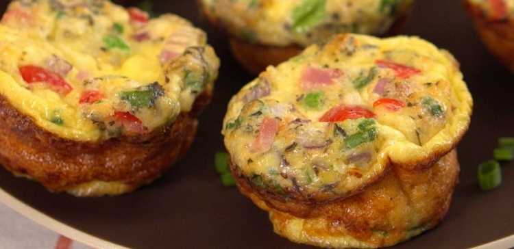 Close-up of two grab-and-go omelettes