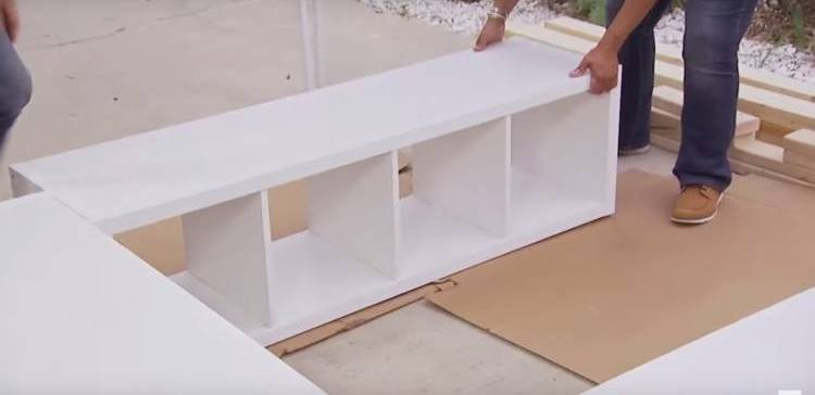 How to build a bed with storage underneath