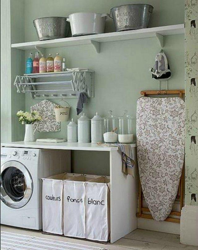 European Farmhouse Laundry Room