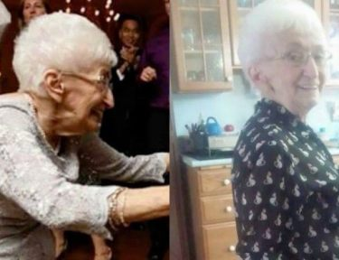 Grandma made lifestyle change to correct posture.