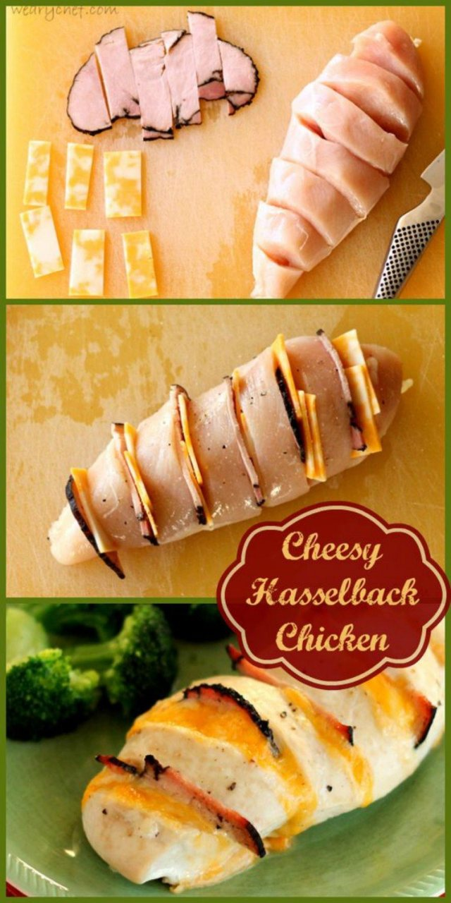 Ham and Cheese Hasselback