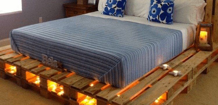 how to make a wood pallet bed