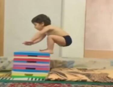 Two-year-old is incredibly strong and potential Olympic hopeful.