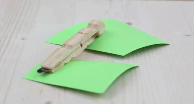 Stylish razor in a clothespin.
