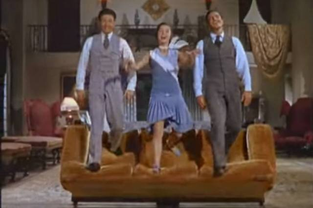 Donald O'Connor, Debbie Reynolds and Gene Kelly in Singin' in the Rain