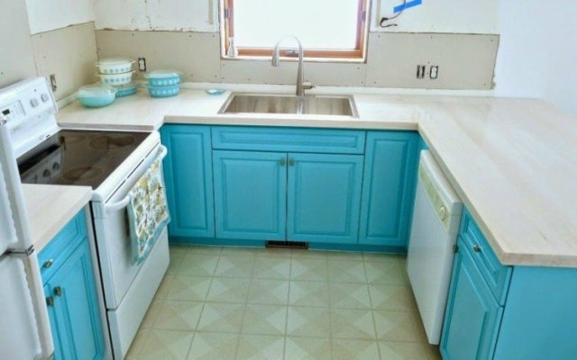 Pyrex Kitchen Makeover Cabinets