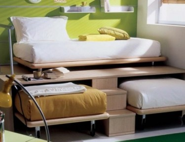 Make space in a small room.
