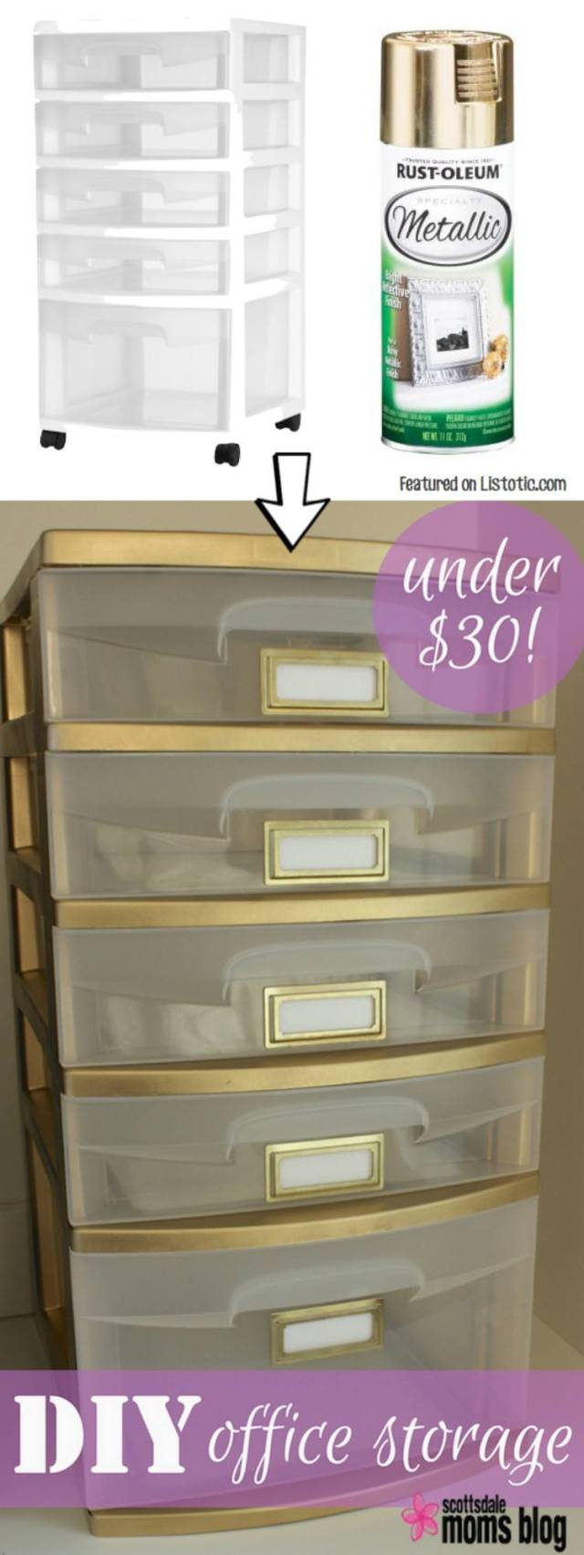 Spray Paint Drawers