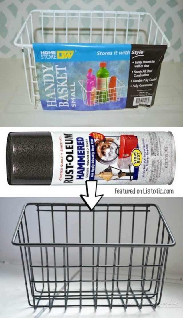 Spray Paint Wire Baskets