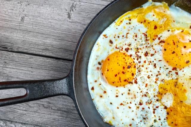 eggs on skillet