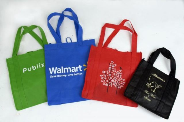 Reusable grocery bags.