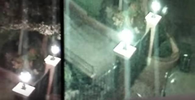 Two frames of Disneyland surveillance footage