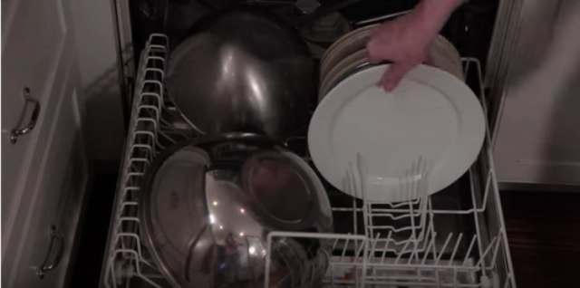 dishes on bottom