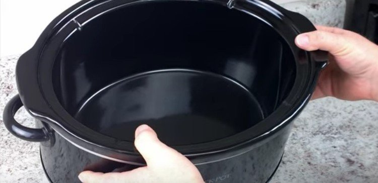 shiny clean slow cooker