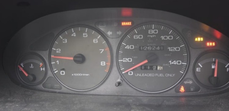 Image of car dashboard.