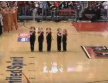 The Cactus Cuties perform at a basketball game