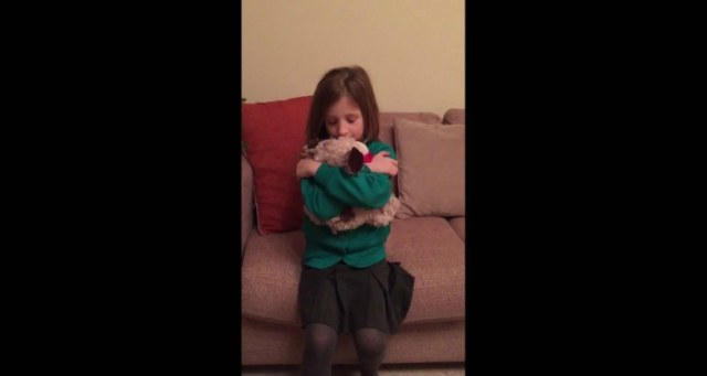 Image of girl with stuffed dog.