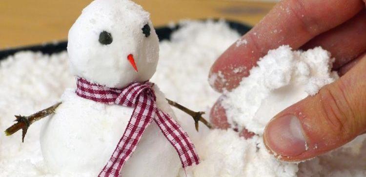 Image of fake snowman.