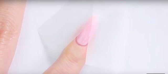 nail art taped