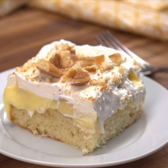Banana Poke Cake 2