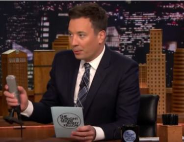 Jimmy Fallon hosting The Tonight Show