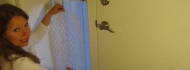 bubble wrap window