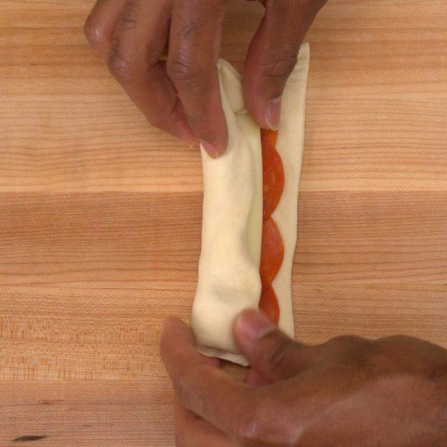 Stuffed Pizza Sticks rolling
