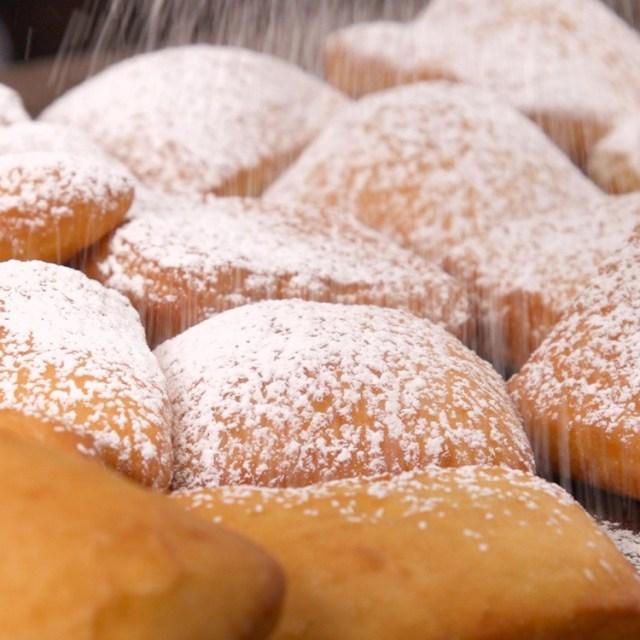 New Orleans Beignets powdered sugar