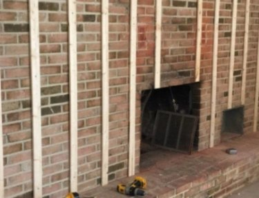 fireplace under construction