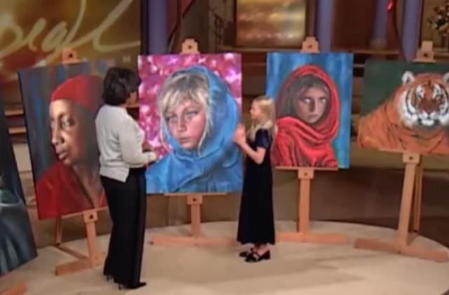 Akiane's paintings on Oprah in 2003.