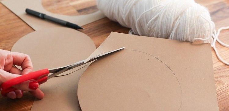 Cardboard circles cut out.