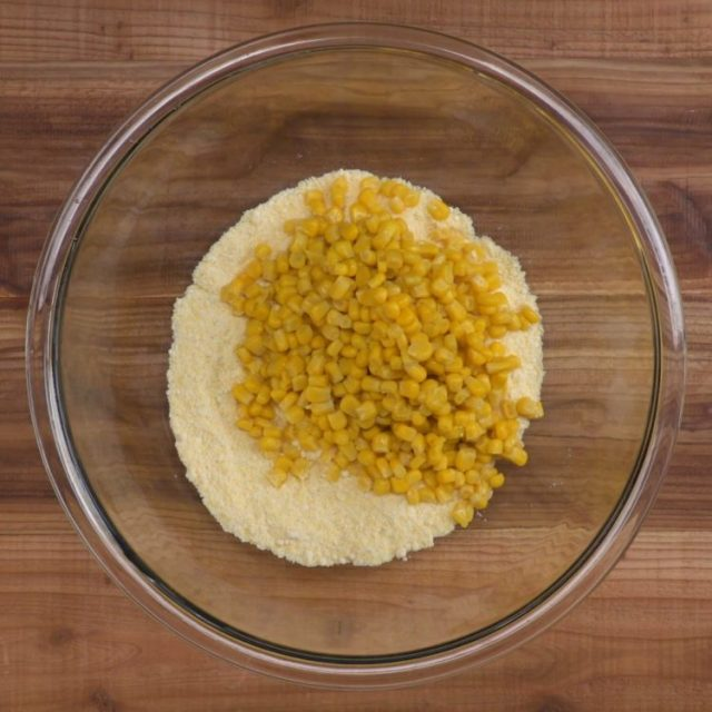 Corn Casserole ingredients in bowl