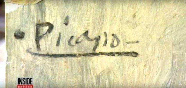 Image of Picasso's signature.
