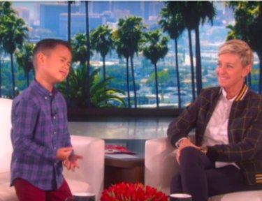 Kai singing for Ellen DeGeneres