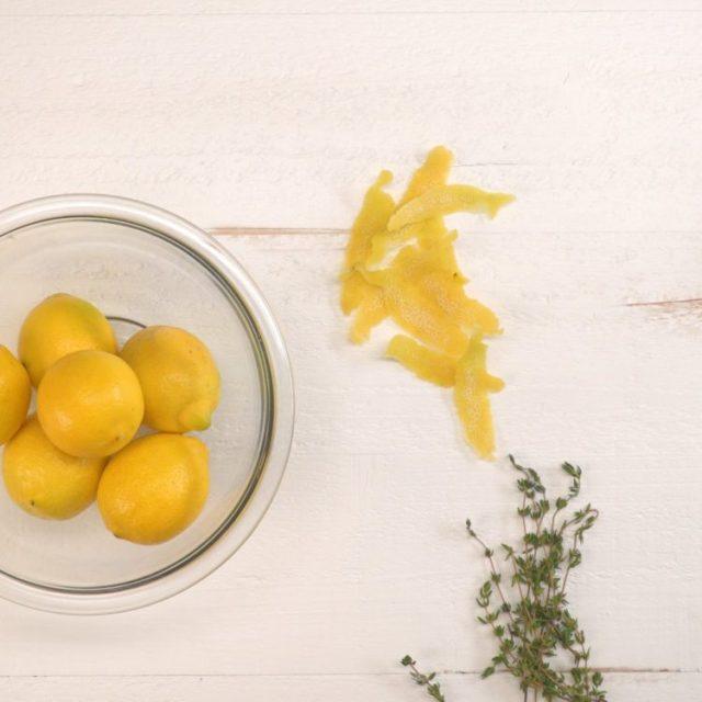 Natural All-Purpose Cleaner lemon peels thyme