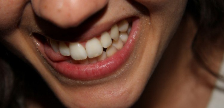 close-up of woman smiling
