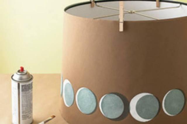 stencil lampshade